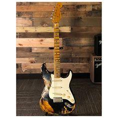 Fender Custom Shop Electric Guitar 2018 NAMM LTD 57 STRAT HVREL BLK/2TS