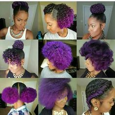 Hair care ideas : purple hair heaven - beauty haircut home o Hairstyles With Bangs, Girl Hairstyles, Braided Hairstyles, Braided Updo, Updos Hairstyle, Scene Hairstyles, Wedge Hairstyles, Hairstyles 2018, Black Hairstyles