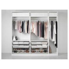 PAX white stained oak effect, Corner wardrobe, cm - IKEA Pax Corner Wardrobe, White Wardrobe, Pax Wardrobe, Wardrobe Storage, Wardrobe Ideas, Ikea Closet, Closet Bedroom, Master Closet, Girls Bedroom