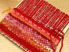Saori weaving tutorial