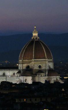 Florence, Italy at Night - the Duomo of Santa Maria Cathedral