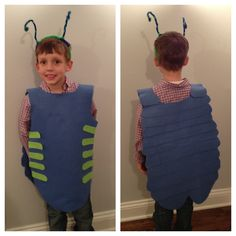 Roly Poly bug Costume - I like the construction theme on this one -- easy to do. Make a lady bug with red construction paper and black dots. Bug Costume, School Costume, Beast Costume, Costume Dress, Animal Costumes, Diy Costumes, Butterfly Fancy Dress, Construction Theme, Construction Paper