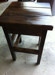 DIY Bar Stools ~ I love the color and the simple style of this!