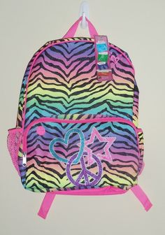 Rainbow Zebra Backpack | rainbow | Pinterest | Rainbow zebra ...