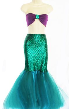 MERMAID PRINCESS Adult Mermaid Tail/ Mermaid by MTBGBOUTIQUE