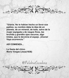 Así comienza... La fiesta del chivo. Vargas Llosa. - Palabras En Cadena (Lecturas encadenadas)