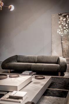 Leather sofa FOLD by BAXTER design Vincenzo de Cotiis