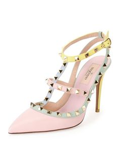 The pastel version of our favorite Valentino shoe.