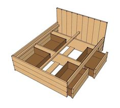 Steigerhouten bed met fruitkistjes scaffolding wooden bed with fruitboxes - Modern bed volwassen ...