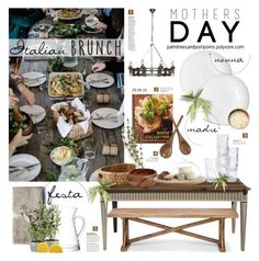 """""""Mother's Day Brunch"""" by palmtreesandpompoms ❤ liked on Polyvore featuring interior, interiors, interior design, home, home decor, interior decorating, L'Objet, Tabletops Unlimited, Murmur and LSA International"""