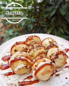 Takoyaki Japanese Dishes, Japanese Food, Food N, Food And Drink, Pork Bacon, Takoyaki, Indonesian Food, Street Food, Finger Foods