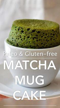 Mug Cake Healthy, Healthy Desserts, Easy Desserts, Healthy Eats, Delicious Desserts, Matcha Dessert, Matcha Cake, Paleo Dessert, Cake Oven