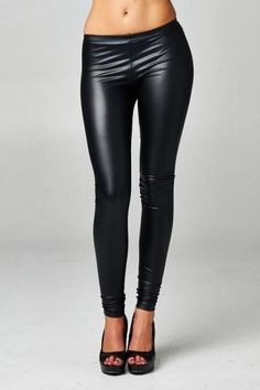 Super Hot Black Faux Leather Leggings - Only $24  Content: 95% Polyester, 5% Spandex  Fast FREE Shipping! Now: https://www.shoppinwithsailin.com/collections/leggings/products/black-faux-leather-leggings?variant=26676456073