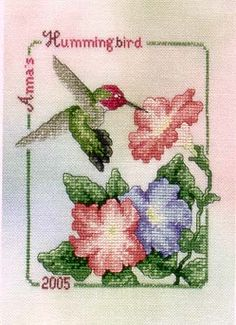 Crossed Wing Collection Anna's Hummingbird - Cross Stitch Pattern - 123Stitch.com