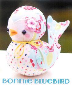 Pattern ''Bonnie Bluebird'' Soft Sculpture by UnBiasedFabrics