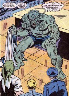 The Abomination awakened by Doc Samson,Agent Quartermain and Thunderbolt Ross.