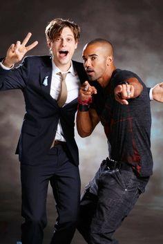 Matthew Gray Gubler & Shemar Moore goofing around.     WOW!!!!!