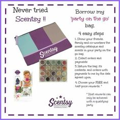 Take home and try bag!! bjphibbs.scentsy.com