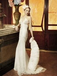 vampy wedding dress