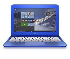 HP Stream 11-r010nr 11.6-Inch Notebook (Intel Celeron Processor 2GB RAM 32 GB Hard Drive Windows 10 Home 64- Bit) Cobalt Blue