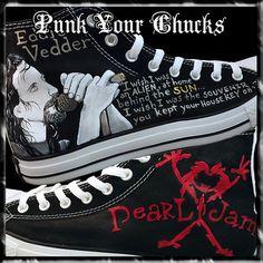 Pearl Jam 3 Custom Converse Sneakers, $219.00