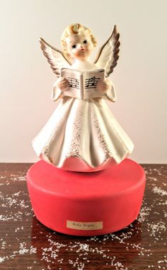 Vintage Spinning Angel Music Box Figurine. by VintageQuinnGifts