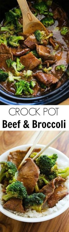 crock pot beef and broccoli, main course, dinner - Healthy eating - Crockpot Recipes Crock Pot Recipes, Crockpot Dishes, Crock Pot Slow Cooker, Crock Pot Cooking, Beef Dishes, Crock Pots, Crock Pot Beef, Fondue Recipes, Crockpot Stir Fry