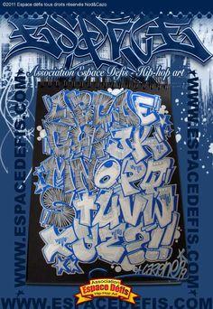 2 - Alphabet graffiti block style - Vous avez choisi celui-ci ! participez au sondage en votant le N° 2