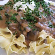 Portobello Mushroom Stroganoff - Allrecipes.com