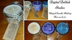 🎨 Digital Delilah Studio - Just because, My Candle-making Process. Cryst...