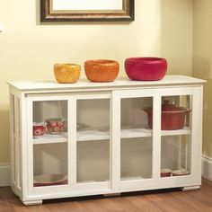 I want this for my dinning room to store small appliances in :) but maybe a different color. TMS Pacific Stackable Storage with Acrylic Door in Antique White