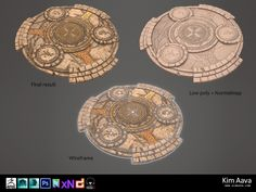 Nordic Environmet - Round stone monument by Mad-Owl on DeviantArt Environment Concept Art, Environment Design, Texture Art, Texture Painting, Isometric Map, Hand Painted Textures, Game Props, Map Design, Environmental Art