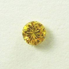 0.19 ct, Orange, Round Brilliant, Orangy Yellow