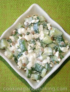 If you have cottage cheese at home and looking for a recipe using cottage cheese, try this refreshing Cucumber Cottage Cheese Salad recipe. This salad recipe is a healthy salad recipe with a few ingredients, that is so easy to prepare.