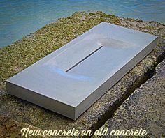 New Concrete on Old Concrete. Basin, Concrete, Table, Image, Home Decor, Decoration Home, Room Decor, Tables, Home Interior Design
