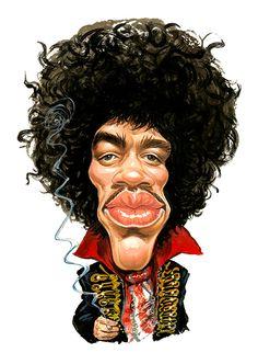 Jimi Hendrix ....artwork by ExaggerArt http://exagger-art.artistwebsites.com/