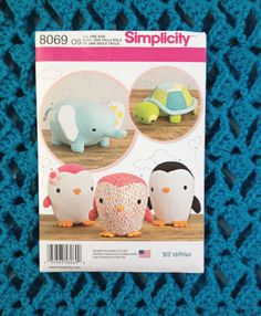 Simplicity 8069 sewing pattern diy fluffies by BloomingRoseCrochet