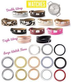 Endless Possibilities with our new Origami Owl watches! Get yours today! https://rebeccascharmedlife.origamiowl.com