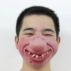Halloween Cosplay, Cosplay Costumes, Halloween Costumes, Diy Mask, Diy Face Mask, Face Masks, Skull Face Mask, Mouth Mask Fashion, Clown Mask