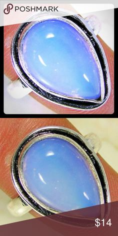 ❤Opalite .925 Silver Handmade Designer Ring Opalite .925 Silver Handmade Designer Ring Size 9   New in Plastic Packaging. Jewelry Rings