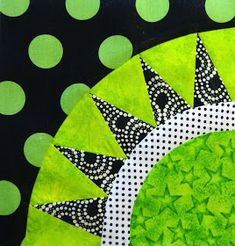 Street Fabric: Another Block and 52 FREE Quilting Tutorials -- Love the use of dots here. Paper Piecing Patterns, Quilt Block Patterns, Pattern Blocks, Quilt Blocks, Quilting Tutorials, Quilting Projects, Quilting Designs, Quilting Tips, Circle Quilts