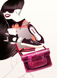 Love this art ... Set by Natasha Shaloshvili, via Behance