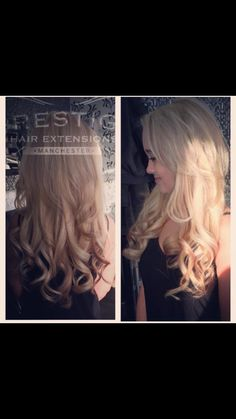 Blonde prestige keratin bonded hair extensions cut short to add some of our double drawn keratin bonded hair extensions fitted by prestige hair extensions manchester remy pmusecretfo Images