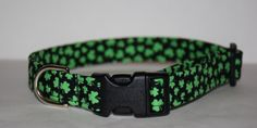 St. Patrick's Day Dog Collar // Handmade & by PawesomePups on Etsy