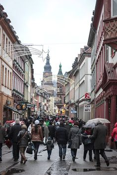 Christmas time in Heidelberg, Germany. I visited on an AmaWaterways Christmas markets cruise on the Rhine River.