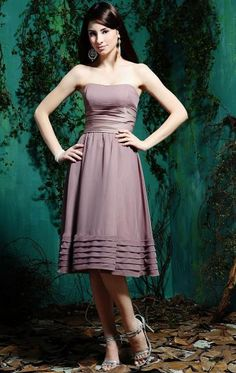 Chiffon Purple Formal Bridesmaid Dresses BNNAD1084-SheinDressAU