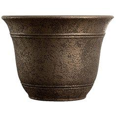 Myers-itml-akro Mils Nordic Bronze Sierra Planter - -pack of 4 Resin Planters, Plastic Planter, Decorative Planters, Planter Pots, Herb Planters, Outdoor Planters, Indoor Outdoor, Container Plants, Container Gardening