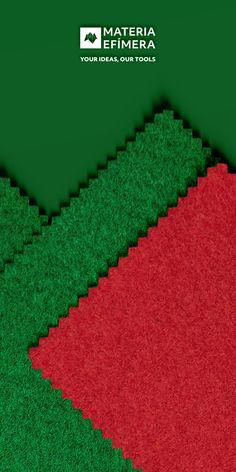 Combinación de moqueta ferial color rojo con green para stands, ferias, congresos y eventos. #Your