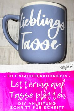 Letter Lovers: ally_scribbles zu Gast im Lettering Interview Diy Pins, Scribble, Upcycle, Mugs, Education, Tableware, Creative, Inspiration, Ideas