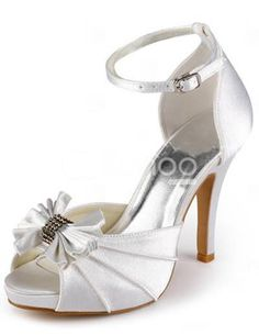 Cheap bride shoes, Buy Quality wedding bride shoes directly from China high heels bow Suppliers: Shoes Woman White Party Pumps Platforms Sandals Peep Toe High Heel Bow Rhinestones Pleated Satin Wedding Bride Shoes Peep Toe Wedding Shoes, Rhinestone Wedding Shoes, Satin Wedding Shoes, Designer Wedding Shoes, Bridal Wedding Shoes, Bridal Heels, Cute Wedding Dress, Fall Wedding Dresses, Colored Wedding Dresses